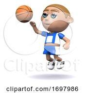 Poster, Art Print Of 3d Basketball Shoot