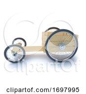 3d Side View Wooden Soapbox Go Cart Racer
