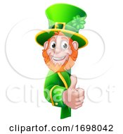 St Patricks Day Leprechaun Cartoon Sign