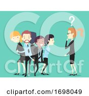 Poster, Art Print Of People Office Icebreaker Human Knot Game