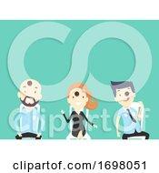 People Office Icebreaker Cookie Game Illustration