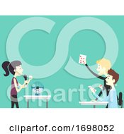 Poster, Art Print Of People Office Icebreaker Card Game Illustration