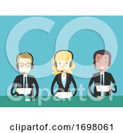 People Sport Newscaster Illustration