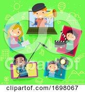 Stickman Kids Media Production Laptop Tablet