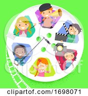 Stickman Kids Film Production Reel Illustration