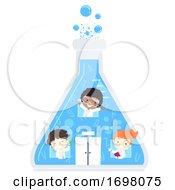 Kids Scientists Glass Flask Laboratory Building