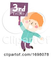 Kid Boy Third Sign Illustration