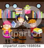 Kids Pirate Library Discovery Illustration