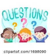 Poster, Art Print Of Kids Questions Illustration