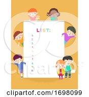 Kids Paper List Illustration