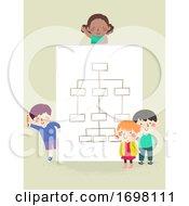 Kids Paper Blank Organization Chart Illustration