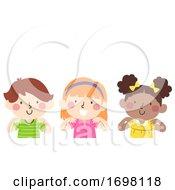 Poster, Art Print Of Kids Put Hands On Your Shoulder Illustration