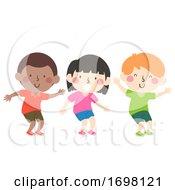 Kids Bend Your Knees Illustration