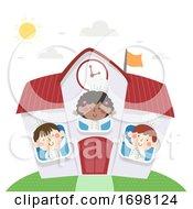 Kids Chefs Cooking School Illustration