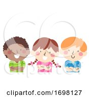 Kids Cross Your Arms Illustration