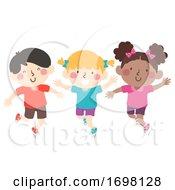 Kids Hop On Your Left Foot Illustration