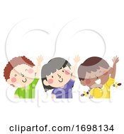 Kids Raise Your Left Hand Illustration