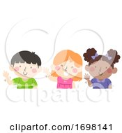 Kids Wave With Your Right Hand Illustration