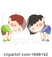 Kids Touch Your Toes Illustration