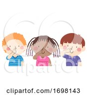 Kids Touch Your Nose Illustration