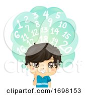 Kid Boy Identify Number One To Twenty Illustration