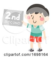 Kid Boy Second Sign Illustration