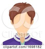Teen Boy Blank Face Illustration