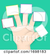 Hand Right Fingers Labels Board Illustration