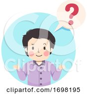 Teen Guy Question Mark Illustration
