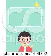 Poster, Art Print Of Teen Guy Information Speech Bubble Illustration