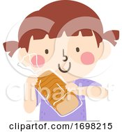 Kid Girl Loaf Container Quantities Illustration