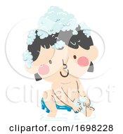 Kid Toddler Girl Legs Scrub Illustration