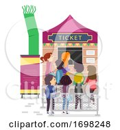Stickman Festival Ticket Booth Illustration