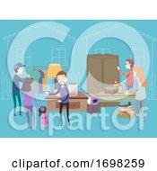 Poster, Art Print Of People Moving Sale Illustration