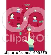 Hand Select Employee Human Resources Illustration