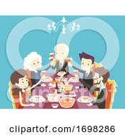 Poster, Art Print Of People Corporate Banquet Illustration