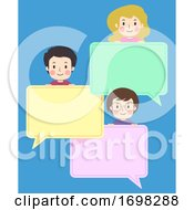 Teens Group Speech Bubbles Illustration
