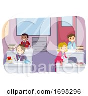 Stickman School Faculty Office Illustration