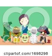 Poster, Art Print Of Girl Costume Maker Job Illustration