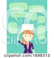 Poster, Art Print Of Girl Icebreaker Charade Game Illustration