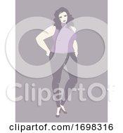 Poster, Art Print Of Woman Plus Size Model Illustration