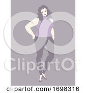 Woman Plus Size Model Illustration