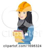 Teen Girl Engineering Qatar Student Illustration