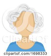 Senior Woman Blank Face Illustration
