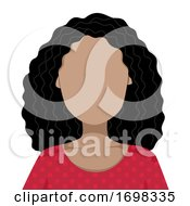 Woman Black Blank Faces Illustration