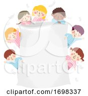 Kids Pajama Pillow Frame Illustration