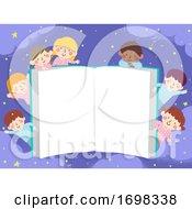 Kids Pajama Open Book Night Story Illustration