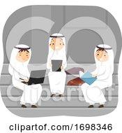 Stickman Teens Boys Qatar Students Illustration