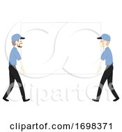Man Moving Business Board Illustration