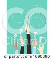 Poster, Art Print Of Hands Office Icebreaker Magic Wand Illustration